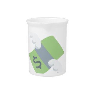 flying money emoji drink pitcher