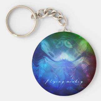 Flying Monkey Basic Round Button Keychain