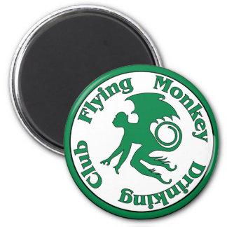 Flying Monkey Drinking Club 2 Inch Round Magnet