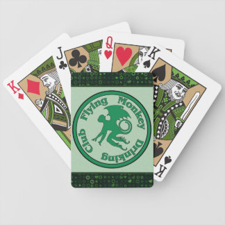 Flying Monkey Drinking Club Bicycle Playing Cards