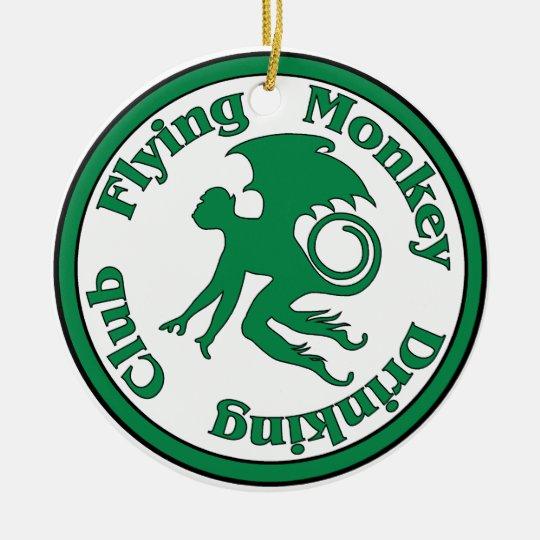 Flying Monkey Drinking Club Ceramic Ornament