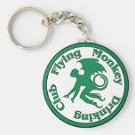 Flying Monkey Drinking Club Basic Round Button Keychain
