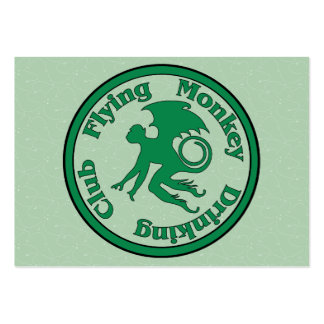 Flying Monkey Drinking Club Large Business Card