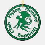 Flying Monkey Drinking Club Ornaments