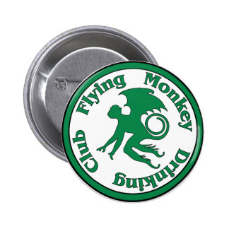 Flying Monkey Drinking Club Pinback Buttons