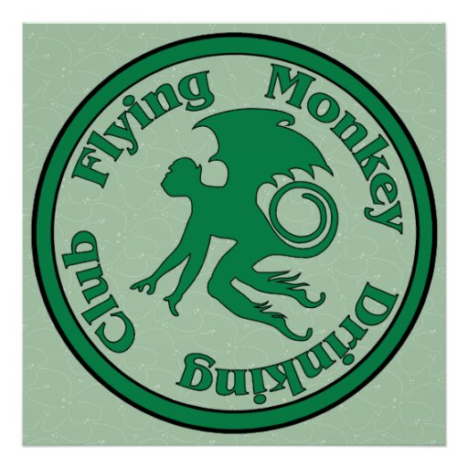 Flying Monkey Drinking Club Posters