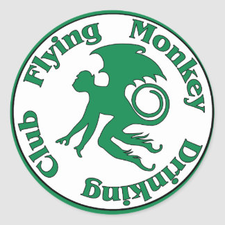 Flying Monkey Drinking Club Classic Round Sticker