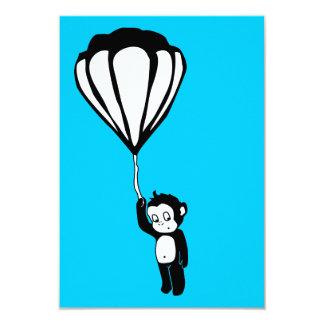 flying monkey : hot air balloon 3.5x5 paper invitation card