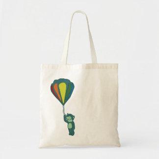 flying monkey : hot air balloon tote bag