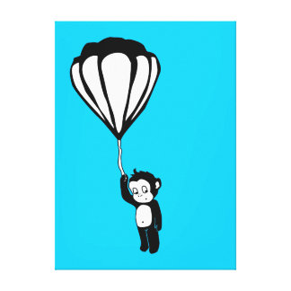 flying monkey : hot air balloon canvas print
