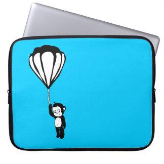 flying monkey : hot air balloon computer sleeves
