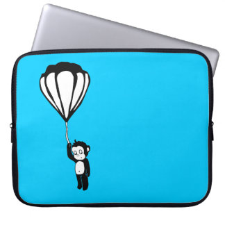 flying monkey : hot air balloon laptop computer sleeves