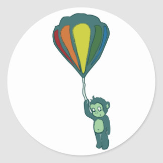 flying monkey hot air balloon sticker