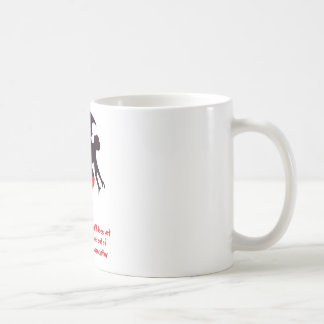 flying monkey classic white coffee mug