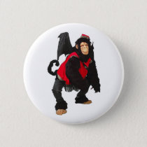 Flying Monkey Pinback Button