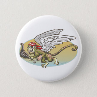 Flying Monkey Pirate by Mudge Studios Button