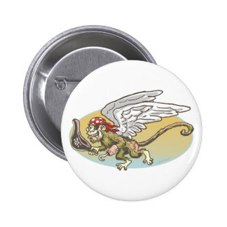 Flying Monkey Pirate by Mudge Studios Pins