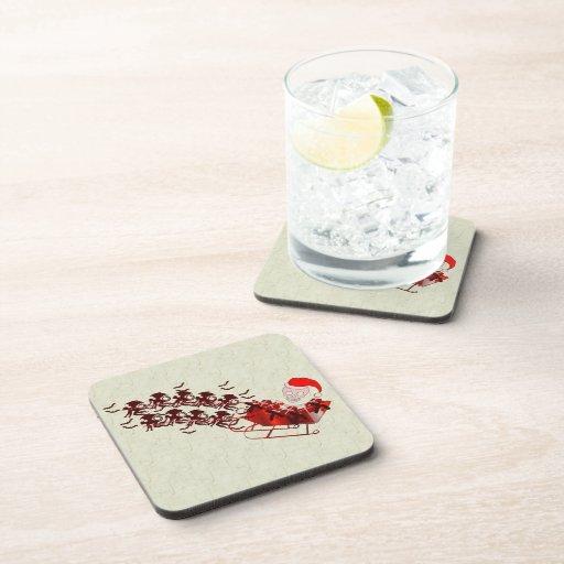 Flying Monkey Santa Beverage Coaster