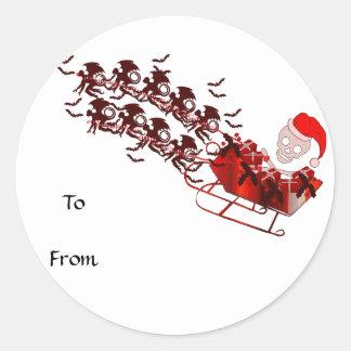 Flying Monkey Santa Classic Round Sticker