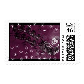 Flying Monkey Santa Stamps