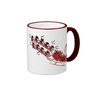 Flying Monkey Santa Ringer Mug