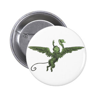 Flying Monkey, Wizard of Oz Button