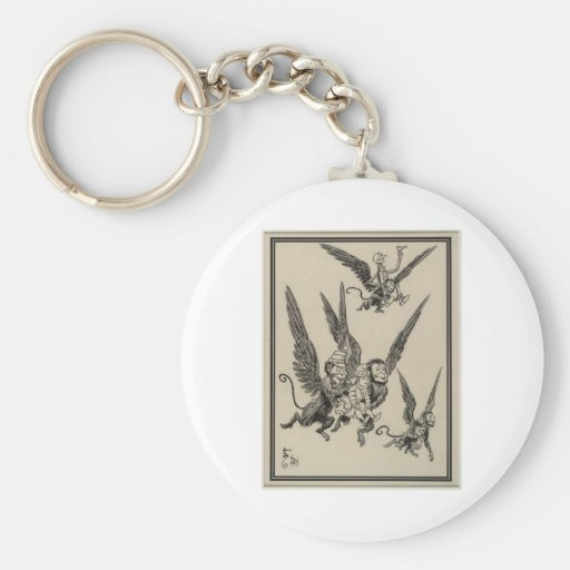 Flying Monkeys Basic Round Button Keychain