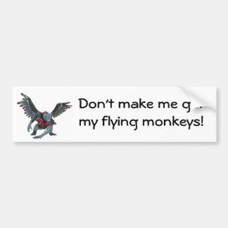 Flying Monkeys Car Bumper Sticker