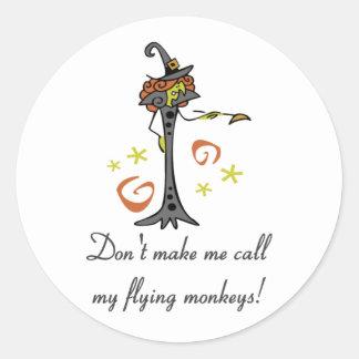 Flying Monkeys Classic Round Sticker