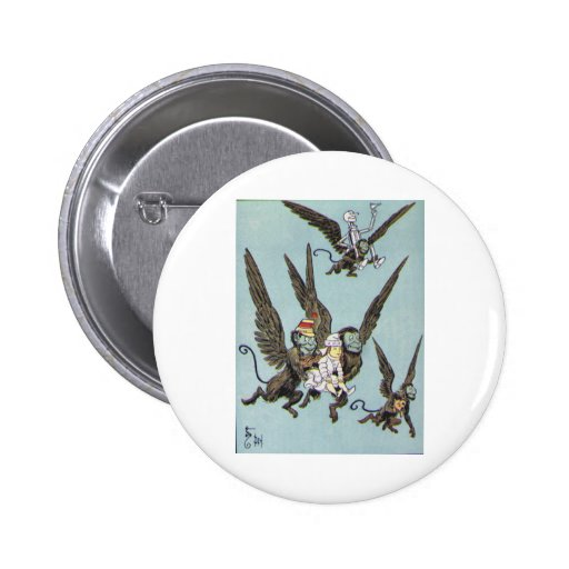 Flying Monkeys Color 2 Inch Round Button