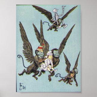 Flying Monkeys Color Poster