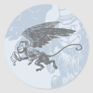 Flying Monkeys Fairy Tale Fantasy Creature Classic Round Sticker