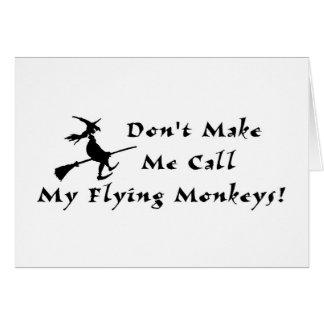 Flying Monkeys Greeting Card