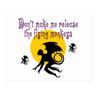Flying Monkeys Postcard Post Cards
