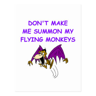flying monkeys postcard
