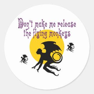Flying Monkeys Stickers/Envelope Seals Classic Round Sticker