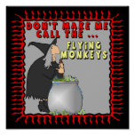 Flying Monkeys Witch Poster