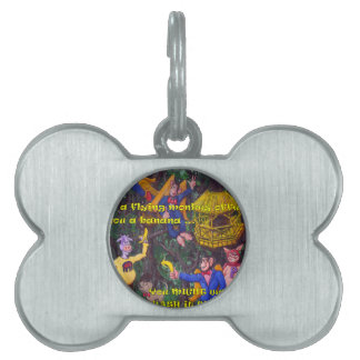 Flying Monkies Pet Name Tag