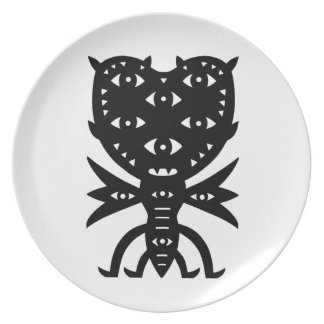 Flying Monster From The Moon With Wings Party Plates