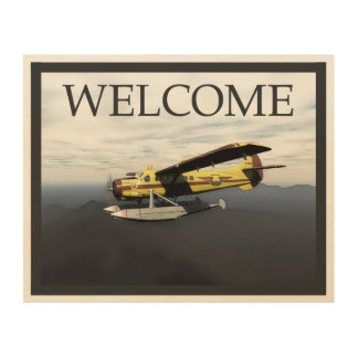 Flying Moose Aviation DH3-C Otter - Welcome Wood Print