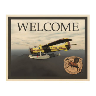 Flying Moose Aviation DH3-C Otter - Welcome Wood Wall Art