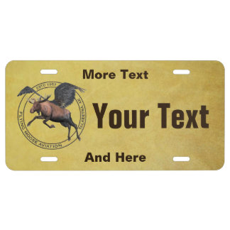 Funny fishing license plates zazzle for Where do you get a fishing license