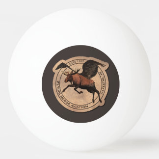 Flying Moose Aviation Patch Ping-Pong Ball