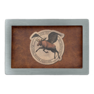 Flying Moose Aviation Patch Rectangular Belt Buckle