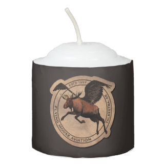 Flying Moose Aviation Patch Votive Candle