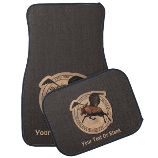 Flying Moose Aviation Patch Car Mat