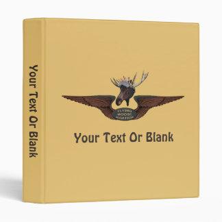 Flying Moose Bush Pilot Wings 3 Ring Binder