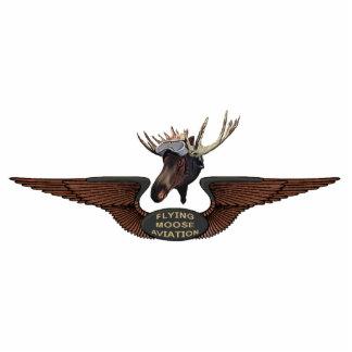 Flying Moose Bush Pilot Wings Statuette