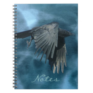 Flying Mystical Crow & Storm Notebook