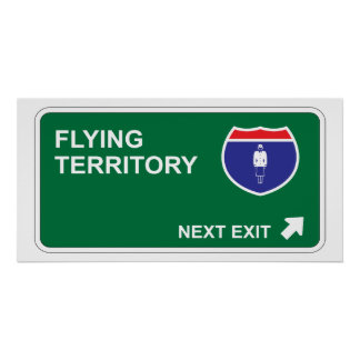 Flying Next Exit Poster